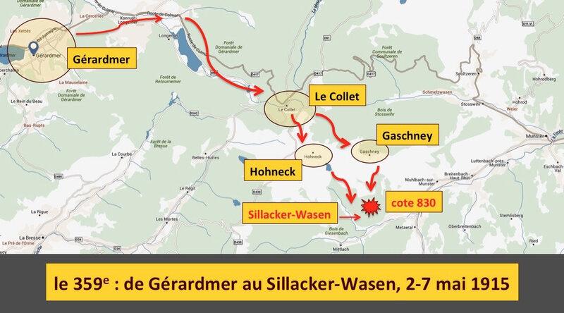 de Gérardmer au Sillacker-Wasen, légendé