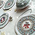 Collection Marimerveille galettes de Noël transferts à broder