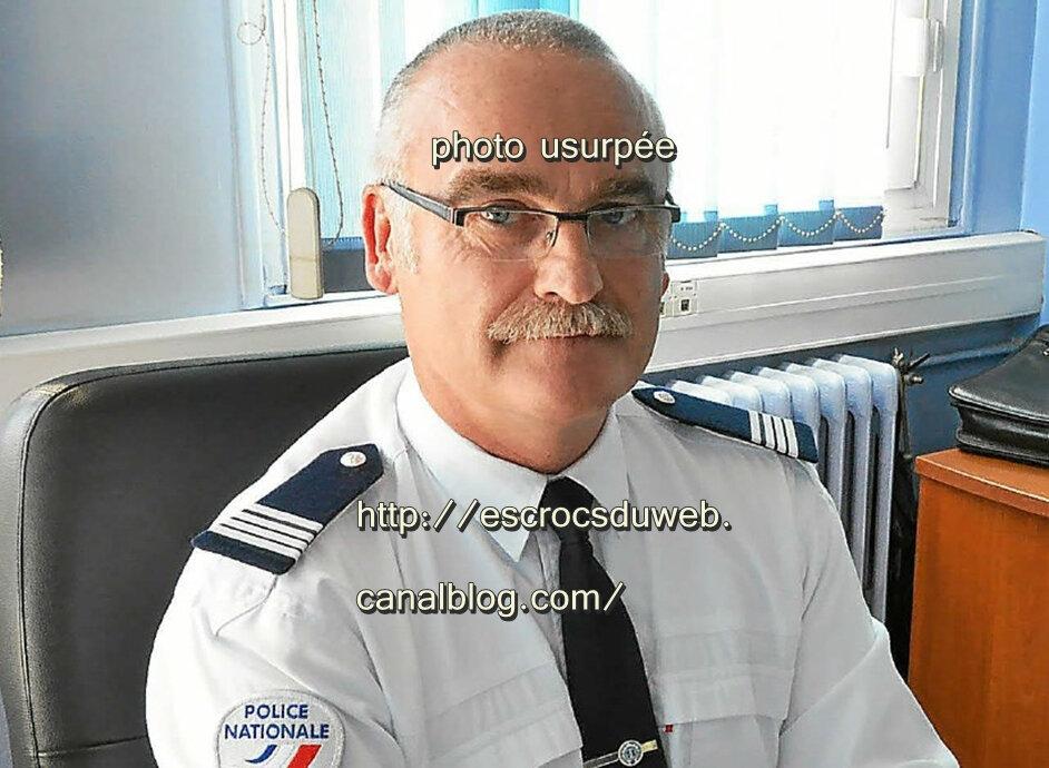 Patrice Foustoul-commandant, police nationale, usurpé
