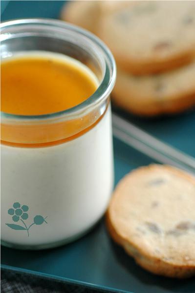 Panna cotta pomme-marron, biscuits aux éclats de marrons_3