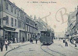 CPA Tramway 1904-06 Fbg de France CCTB