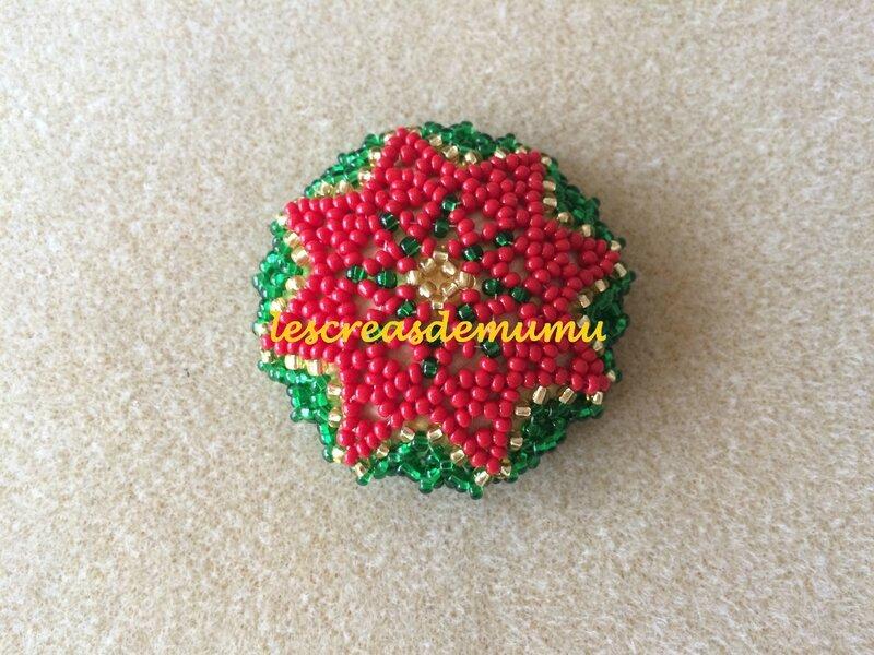 Magnet étoile de Noël : créa perso