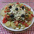 Salade de pomme terre , tomate et poivron