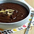 Sauce chocolat au miso & yuzu confit