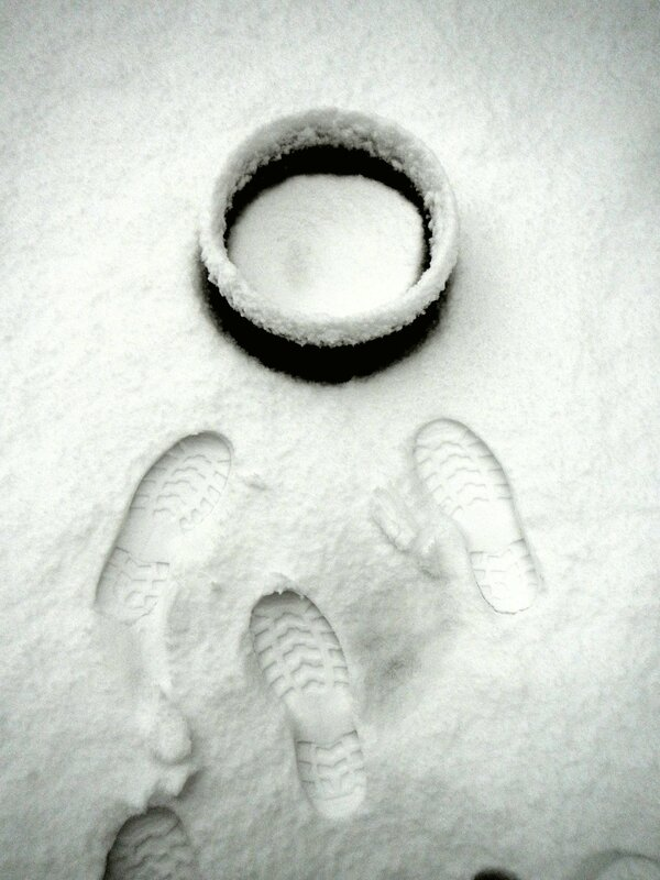 empreintes sur la neige