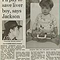 I'll pay to save liver boy, says jackson - 1994