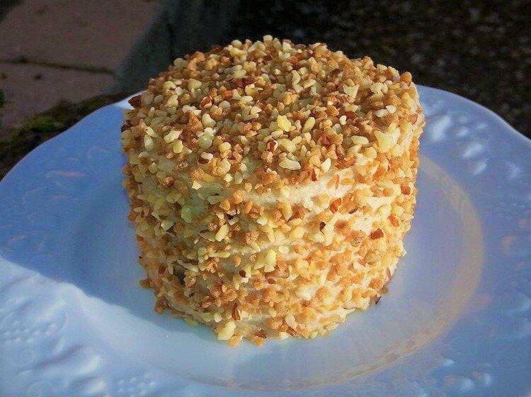Chiffon cake ganache chocolat praliné