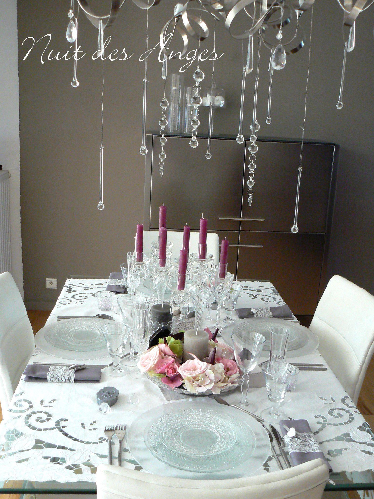 Nuit Des Anges Décoratrice De Mariage Décoration De Table Féérique  Romantique 001
