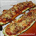 Courgettes pizza