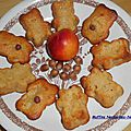 Muffins nectarines-noisettes.