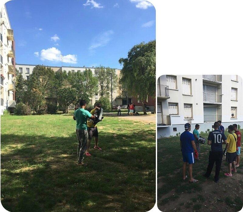 Quartier Drouot - Initiation et entraînement aux sports de combat avec Rachid Chernane et APSM (Photos Mourad Miliani)