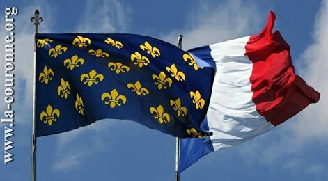 drapeau couronne France