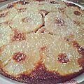Gâteau au yaourt renversé a l'ananas caramelisé