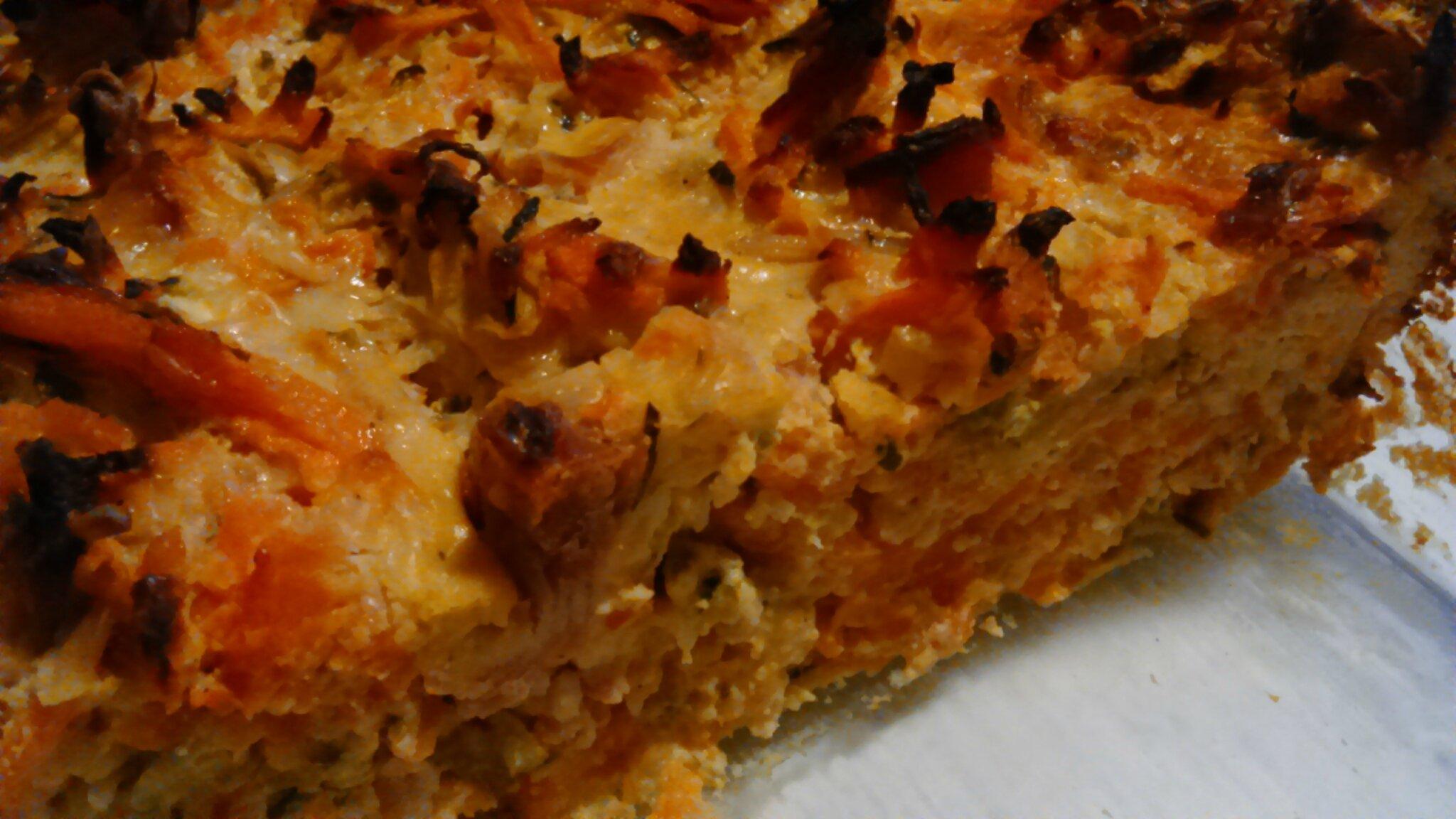 Gâteau de carottes courgettes au jambon