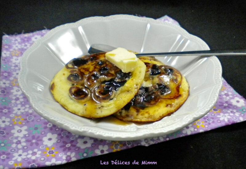 Pancakes aux myrtilles très « fluffy » 2