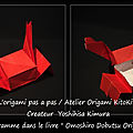 Origami animaux drôles_boîte crabe