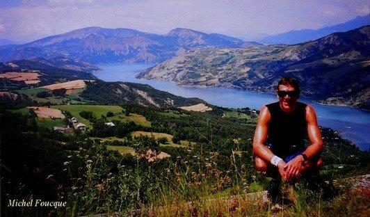 90a) Tour du lac de Serre Ponçon à vélo