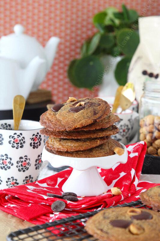 La recette des cookies au beurre noisette et aux pépites de chocolat de Marlette (challenge cookies #11)