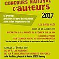 Samedi 4 février 2017 : concours national d'auteurs à heming (57)