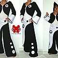 ******** ensemble black & white pantalon jupe