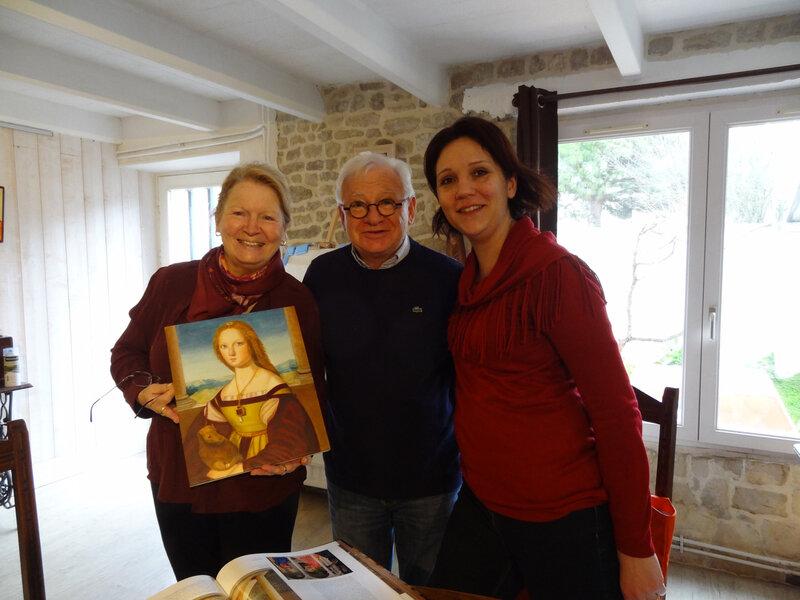 Mes élèves Michel ROBERT, Liliane BELLENGER et Caroline PELTIER.