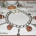 Bracelet religieuse chocolat