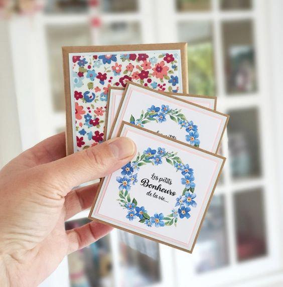 vanillejolie mini carte et boite tissu