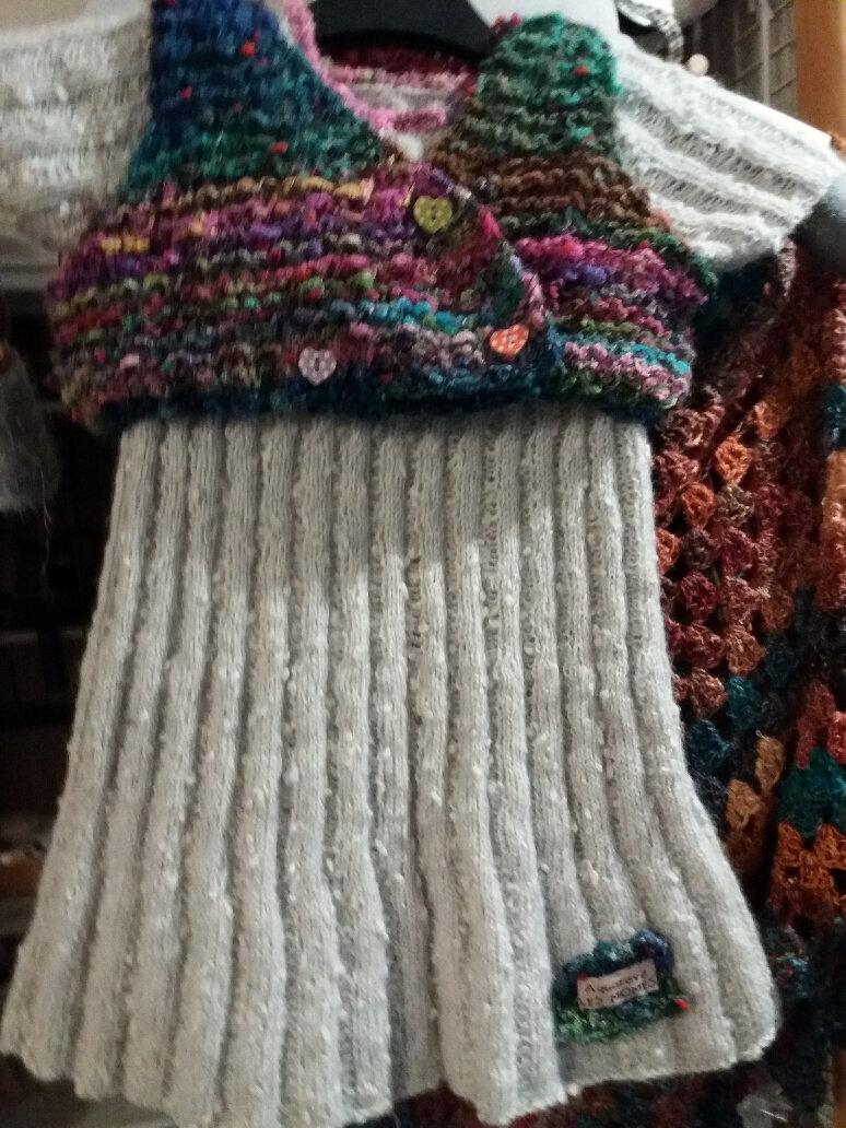 Freya de Lang, une matière douce et chaude pour une robe de demoiselle...
