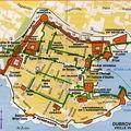 Dubrovnik -La carte de la vieille cité