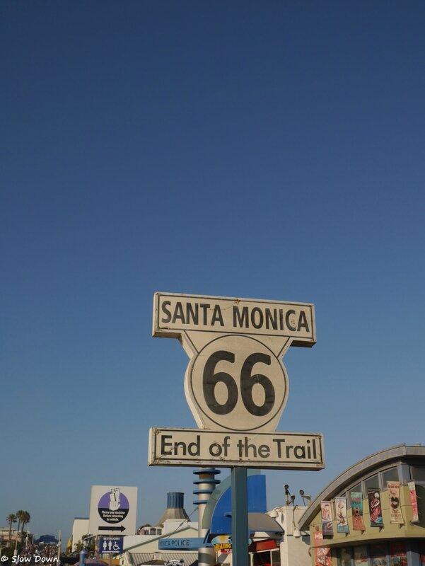 La fin de la route 66 sur le Pier