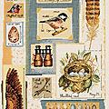 Collage d'oiseaux dmc #1