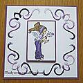 Broderie violette pour dire merci - 08 b