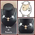Collier petits moutons