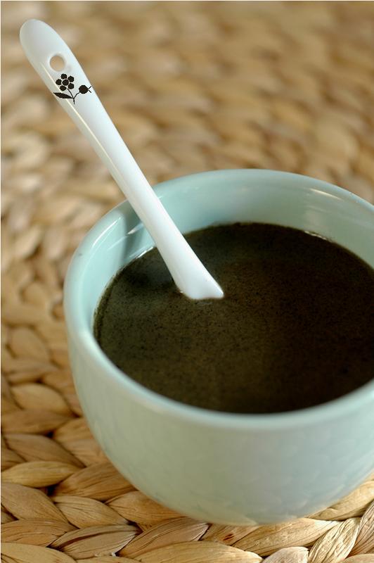 Sauce crème de sésame noir