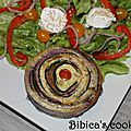 Clafoutis spirale courgettes-carottes