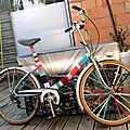 Customisation de velo en yarn bombing ou l' urban knitting bike ep.04 et 05