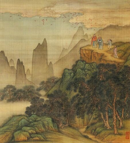 Jin Jie, Flying Bats Filling the Sky, colour on silk, album, Qing dynasty, Yongzheng period © The Collection of National Palace Museum