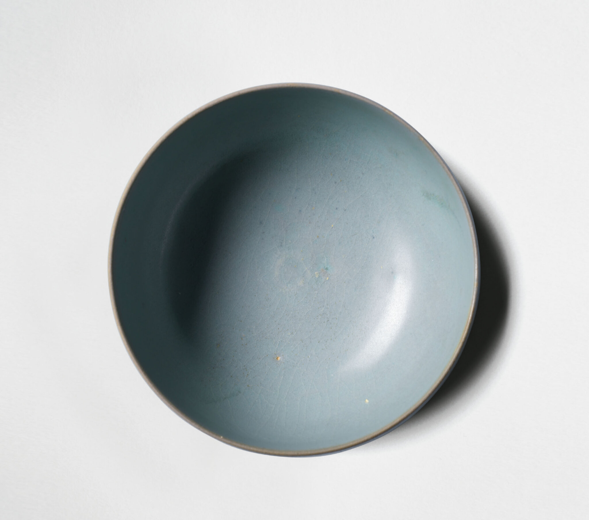 An Important And Extremely Rare Ru Sky Blue Tea Bowl Northern Song