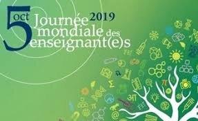"""Résultat de recherche d'images pour """"journée mondiale des enseignants 2019"""""""
