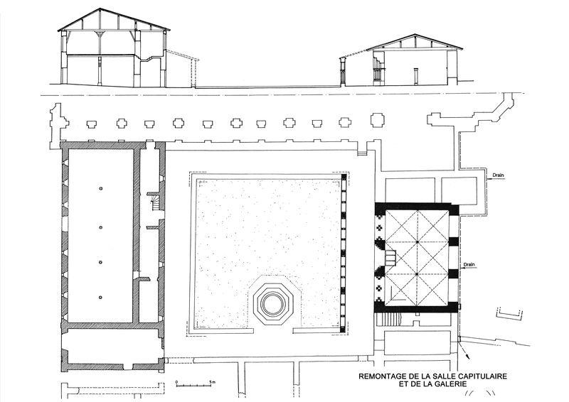 Projet de remontage de la salle capitulaire (B.Voinchet)