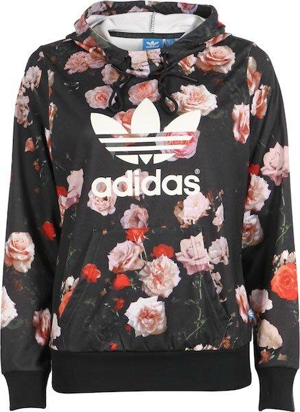 Imprimé Blouson Capuche Roses Le Blog Sweat Adidas À OPiukZX
