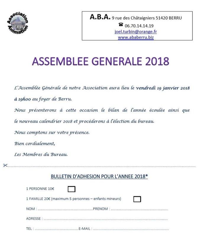 2018 ASSEMBLEE GENERALE