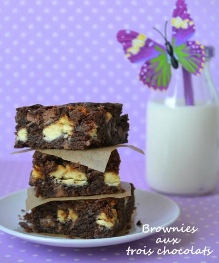Brownies aux trois chocolats