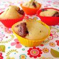 Muffins poire et chocolat au lait