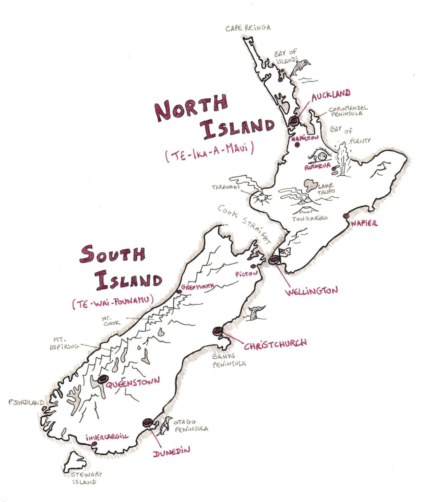 Carte Nouvelle Zelande Dessin.Nouvelle Zelande Le Programme France Trotting