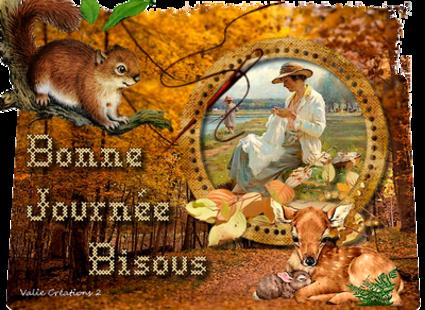 automne femme coud biche ecureuil superbe
