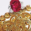 Fine platinum, gold, ruby and diamond ring - sotheby's