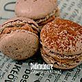 Macarons: macaron au chocolat milka