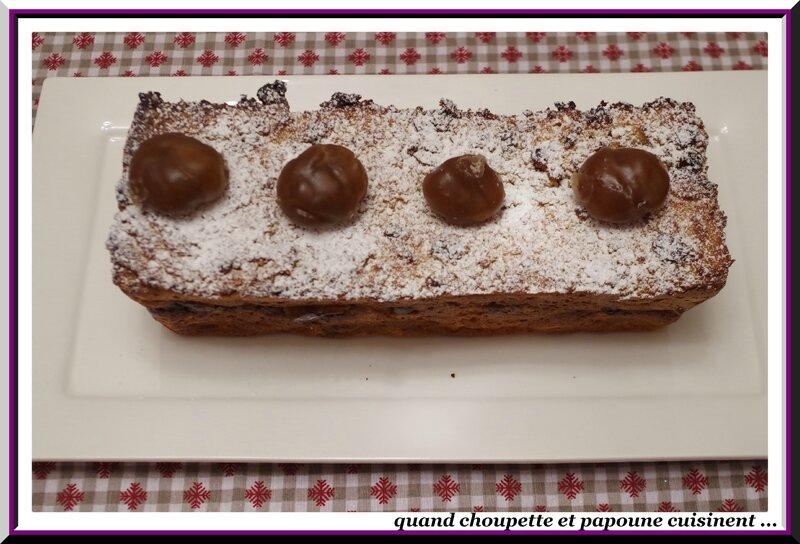 Pudding de pain perdu aux marrons glacés, crème anglaise à la châtaigne-6565