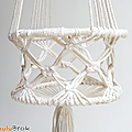 Déco vintage ... suspension macrame * fils